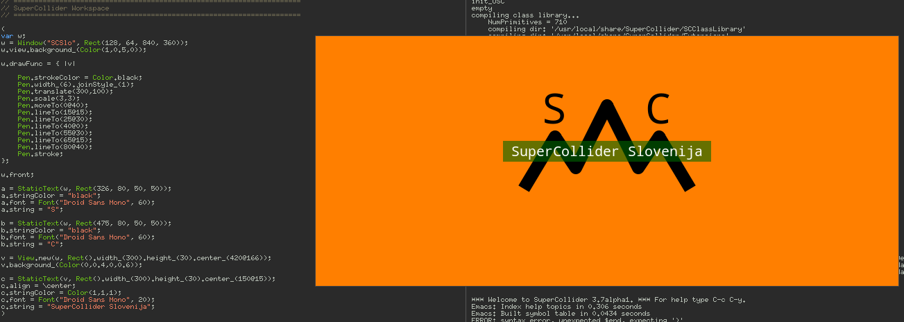 SuperCollider Slovenija Logo making